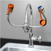 Thumbnail Image for EyeSafe-X™ Faucet-Mounted Eyewash with Adjustable Aerated Outlet Heads