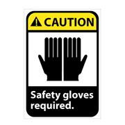 Thumbnail Image for Caution, Safety Gloves Required With Graphic Signs
