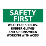 Thumbnail Image for Safety First When Working With Acids Sign