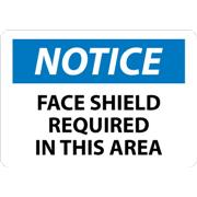 Thumbnail Image for Notice, Face Shield Required In This Area Signs