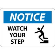 Thumbnail Image for Notice, Watch Your Step, Graphic Signs