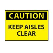 Thumbnail Image for Keep Aisles Clear Caution Sign