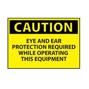 Thumbnail Image for Eye & Ear Protection Machine Operation Caution Sign