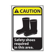 Thumbnail Image for Safety Shoes Required Area Caution Sign
