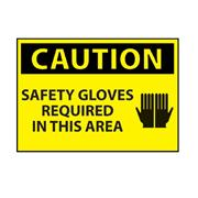 Thumbnail Image for Safety Gloves Required Area Caution Sign