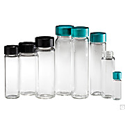 Thumbnail Image for Clear Borosilicate Sample Vials with Green Thermoset F217 & Teflon® Caps