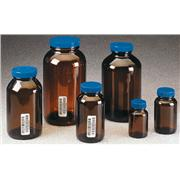 Thumbnail Image for Wide-Mouth Amber Glass Packer Jars with Closures