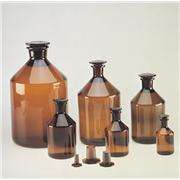 Thumbnail Image for Amber Ground Glass Narrow Mouth Stoppered Bottles
