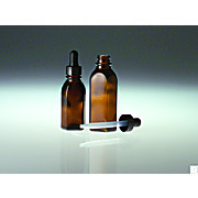 Thumbnail Image for Oval Dropper Bottles with Black Phenolic Plastic Dropper Assembly