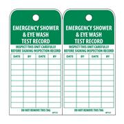 Thumbnail Image for Emergency Shower & Eye Wash Test Record Tags