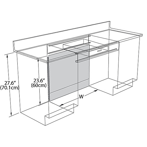Metal Knee Space Panels for use with Apron Drawer Frames